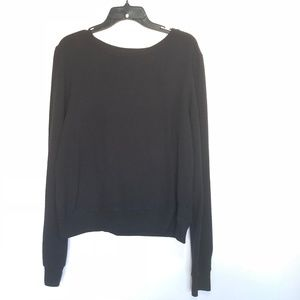 Wildfox Black Pullover Nubby Sweatshirt Size Small